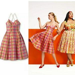 NWT Issac Mizrahi Plaid Dress